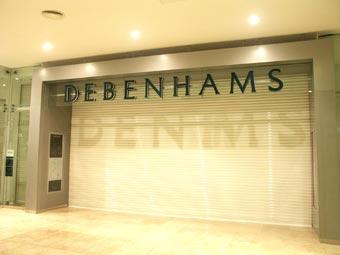 Debenhams Roller Shutter